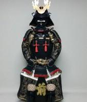 黒糸威小札二枚胴具足(時代塗)