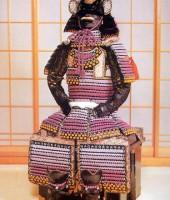 紫裾濃威本大札腹巻鎧